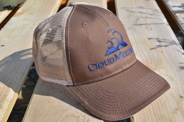 Brown Hat, Blue Logo